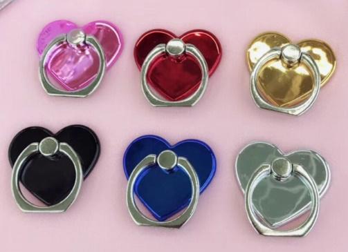 New Socket fidget Creative Love Heart Shaped Mobile Phone Ring Staffa Portacellulare Moblie facile da tenere in mano il telefono