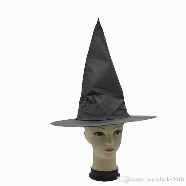 Black Oxford material elf hat Halloween witch cosplay prop Harry Potter magic hat Halloween witch hat costume party props