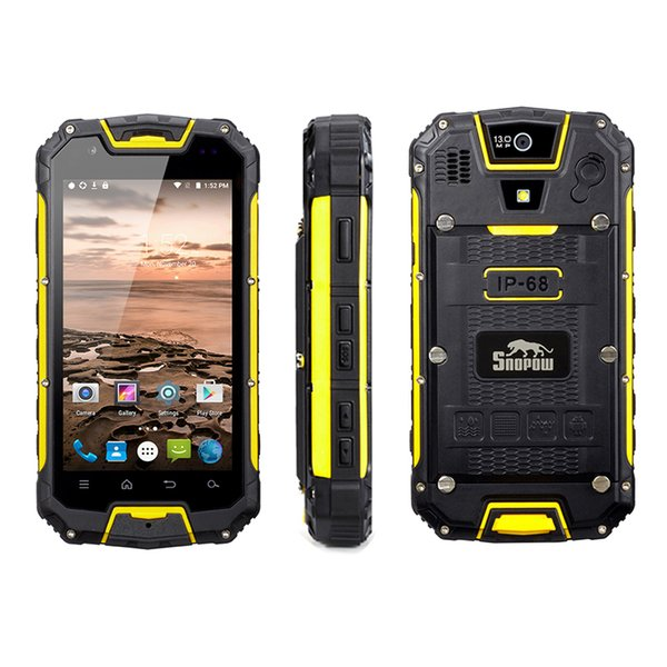 Original Snopow M5P MTK6735 Full Bands Cheaop Android 5.1 UHF Walkie Talkie Two Way Radio IP68 Rugged Waterproof Shockproof 4G Cell Phone