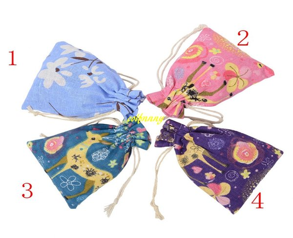 50pcs/lot 10*14cm Burlap Drawstring Pouch Twist cloth Sachet Jewelry Packing Bags Wedding Christmas Gift Bag 4 colors