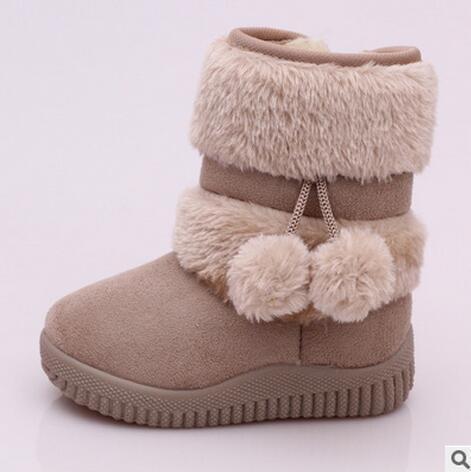 Kızlar Kar Botları Yeni Moda Rahat Kalın Sıcak Çocuklar Çizmeler Lobbing Topu Kalın Çocuk Kış Sevimli Erkek Çizmeler Prenses Ayakkabı