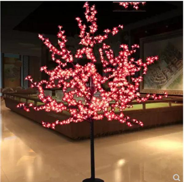 2 М LED Кристалл Cherry Blossom Tree Lights Рождество Новый год Luminaria Декоративное Дерево Лампа Пейзаж Наружное Освещение