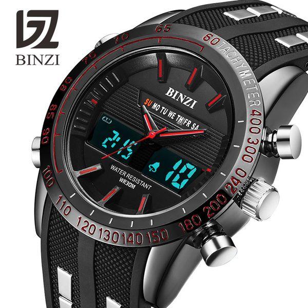 BINZI Luxury Watches Men Brand Sports Watches Led Digital Waterproof Watch Military Men's Quartz Wrist Watch Relogio Masculino Y1892508