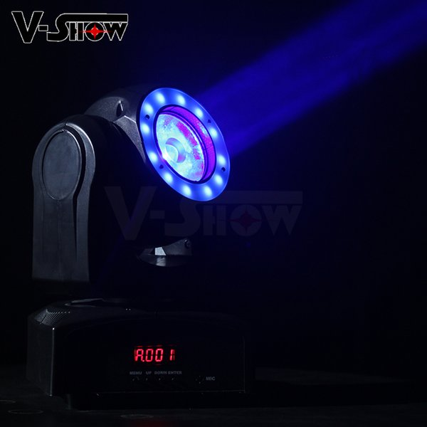 1pcs Free shipping Mini 60W RGBW Super Beam Moving Head Light With Halo Effect Stage Light Dmx Dj Light For Club And KTV