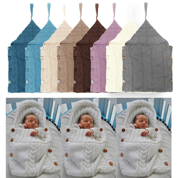 best selling 2018 Hot Sale 7Color Newborn Photo Props Set Two Pieces Baby Elastic Crochet sleeping bag baby Knitted Sleep bag Cosplay Costume photo props