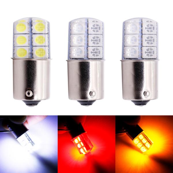 10Pcs White DC 12V LED 1157 BAY15D 12 SMD COB Car Brake Parking  Light Bulbs New