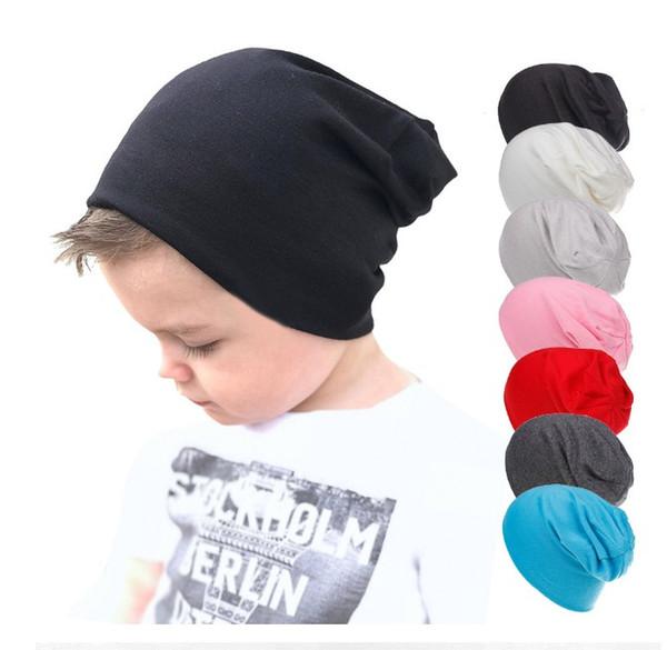 Compre Niños Slouchy Hat Niños Primavera Algodón Sólido Beanie ...