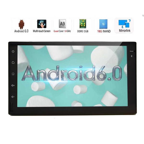EinCar Android6.0 Car Stereo Quad Core 7'' HD Touch Screen Double Din GPS Navigation In Dash Headunit Car Radio Receiver Bluetooth WiFi