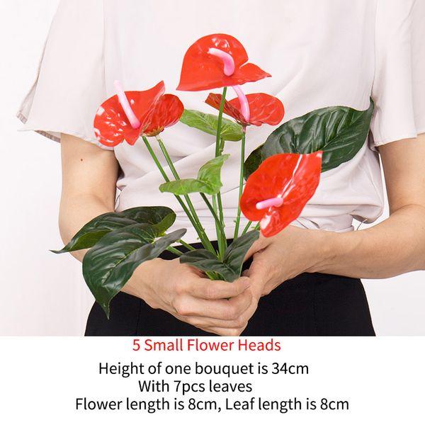 5 маленьких цветочных головок