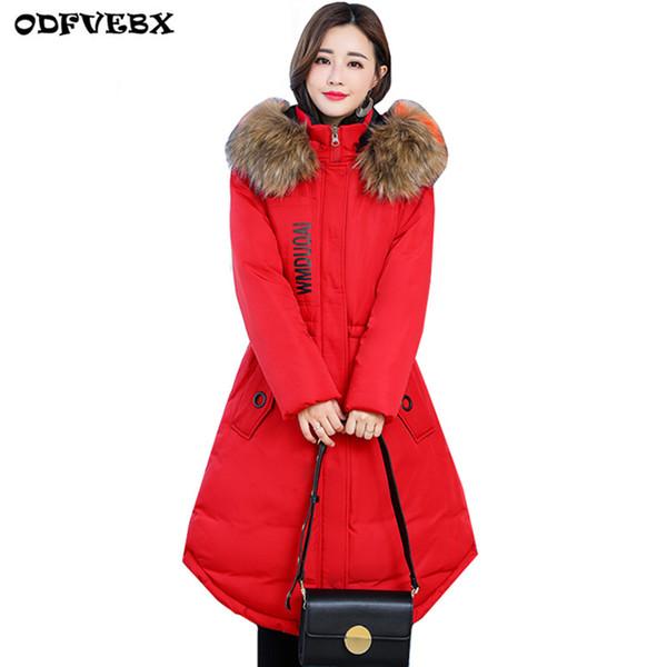Más el tamaño L-5XL chaqueta de algodón de invierno para mujer 2018 medio largo y grueso mm algodón grueso cálido abrigo casual chaqueta de mujer con capucha Parkas