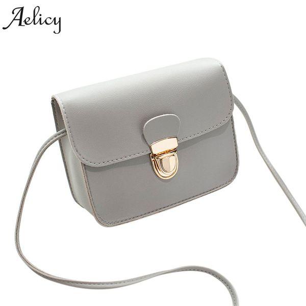 2019 Fashion Aelicy New 2018 Women Messenger Bags Pu Leather Fashion Small Shoulder Bag Ladies Girls Handbags Crossbody Bags Female