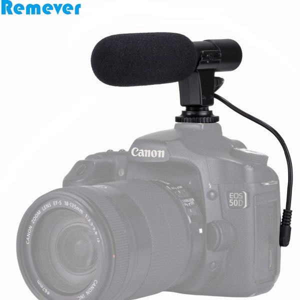 Camera DV Stereo Microphone for video recording Professional Interviewing 3.5mm Digital Recording Microphone for DSLR Camera