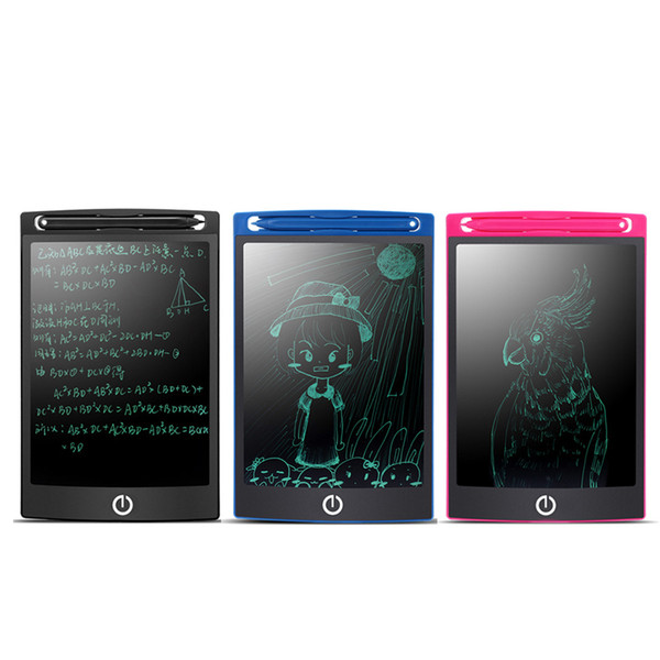 top popular 8.5 inch LCD Write Tablet Electronic Blackboard Handwriting Pad Digital Drawing Board Graphics Tablets Kids Children Graffitis DHL Free 2019