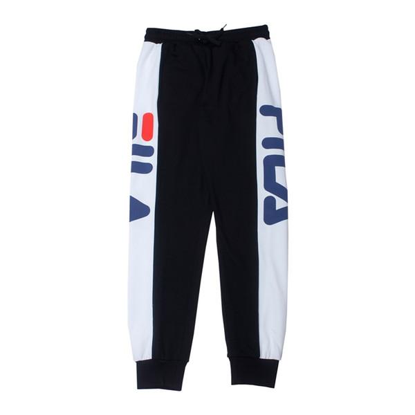 Compre FILA Hombres Pantalones De Diseño Costura Color De Contraste ...