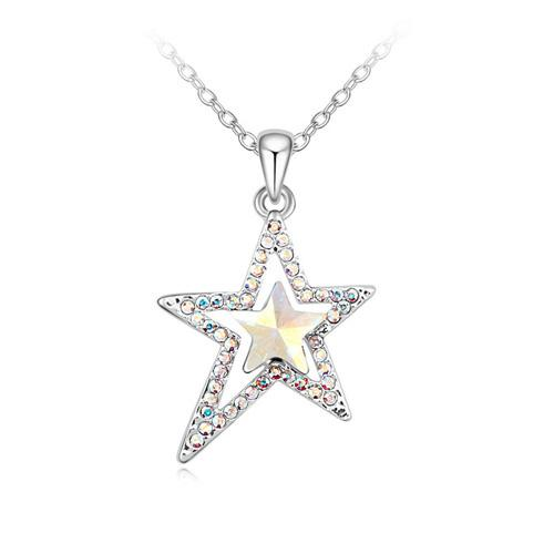 Star pendant necklace with Crystals from Swarovski for women girls Christmas fashion jewelry birthday gift 2018