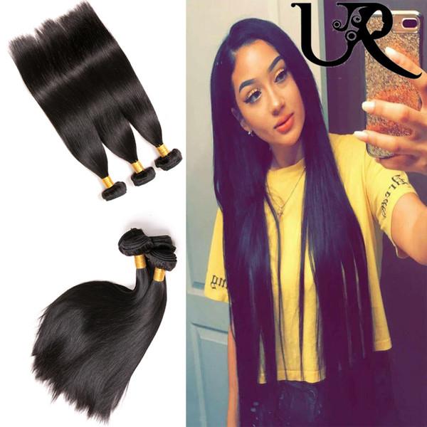 Wholesale Filipino Brazilian Peruvian Malaysian Virgin Hair Straight 3pcs Unprocessed 100% Human Hair Weave 8-28inch in Natural Color