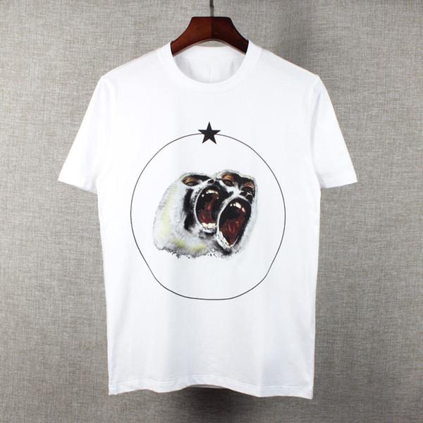 G 2018 new summer men Italian Luxury Brand tide clothing short sleeve t-shirt Roar orangutan star Designer tshirt unsex tee cotton tops Tag