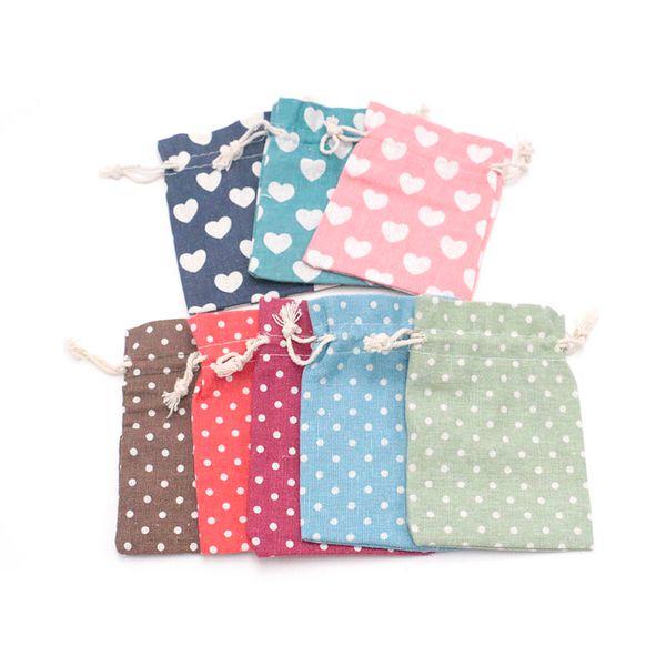 Cute Printed Cotton Bundle Drawstring Tea Gift Candy Smoking cartoon print shopping Bag 200pcs/lot 10*14cm