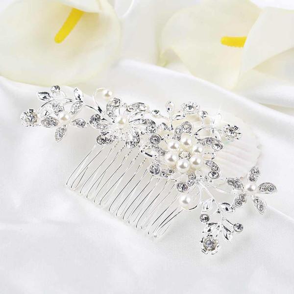 Fashion Diamond Gem Hair Band Head Band Gift Wedding Gift Alloy Hairpins Jewelry Accessory