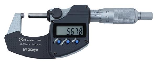 best selling Freeshipping Digital Micrometer 0-25mm 0.001mm IP65 Metric System 293-240 Screw Gauge Waterproof Measure Tools