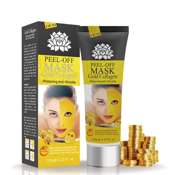 Peel Off Gold Collagen Facial Mask Whitening Anti Winkles Face Mask Crystal Gold Powder Collagen Facial Mask Skin Care Products 120ML