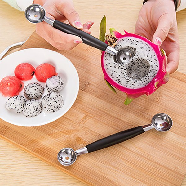 Fruit Carving Cutter Home Kitchen Bar Tools Watermelon Cantaloupe Melon Dig Ball Scoop Stainless Steel Spoon