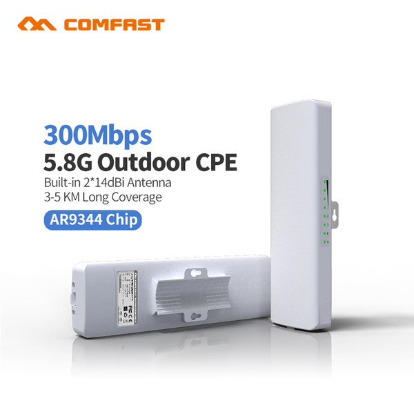 COMFAST CF-E312A 5.8G Wireless outdoor WiFi Antenna Booster 2*14dbi Wifi Antennas Amplifier WLAN Router Outdoor Network Bridge