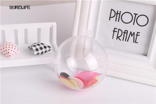 100pcs 5cm Transparent Clear Ball Ornament Plastic Fillable Ball Gift Present Christmas Tree Ornanment Decorations
