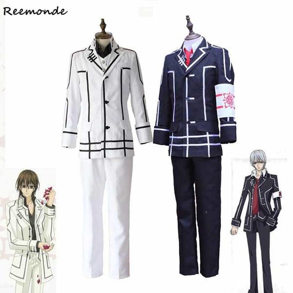 Anime Vampire Knight Cosplay Costumes Clan Kaname Kiryu Zero Jacket Vest Pants Full Set School Uniform For Men Boys Clothes