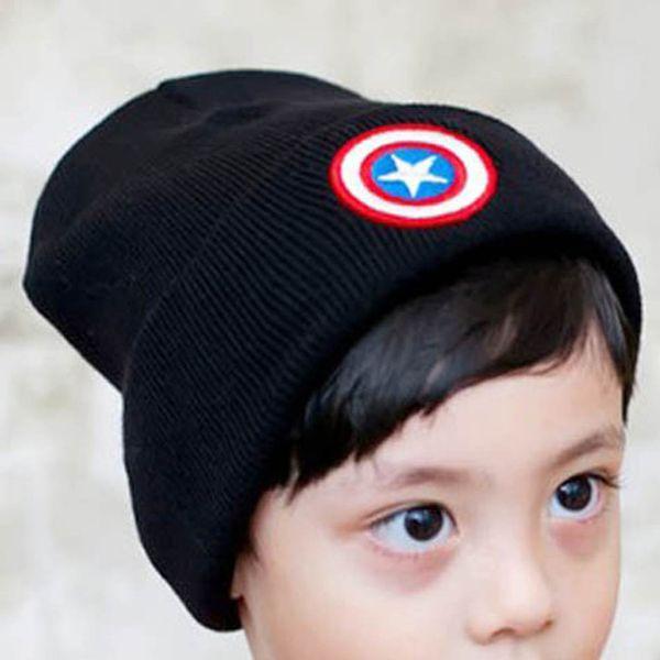 New Baby Boys Girls Hat Cotton Blends Caps Newborn Baby Hat Captain America Children Cold Knitted Cap