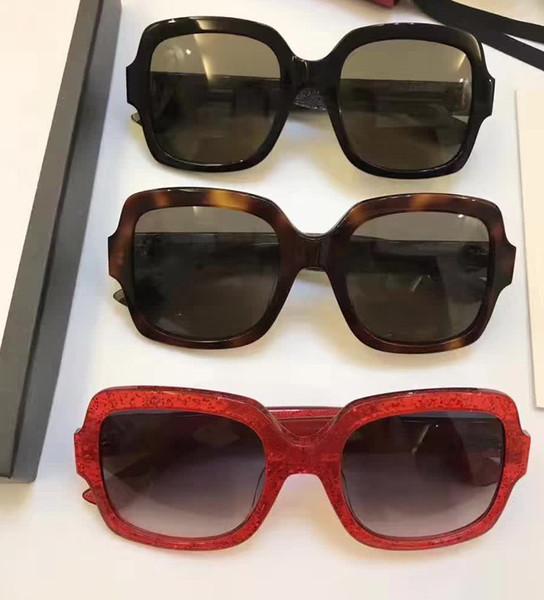 0036S Square Sunglasses Black/Grey Gradient Lens 54mm Sonnenbrille luxury brand designer sunglasses for women Gafas de sol 0036 New with box