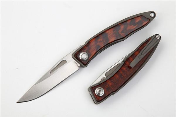 CR Mnandi M390 Blade snake wood TC4 Titanium handle folding knife Copper washer hunt camp Pocket Survival equipment EDC Tools knives