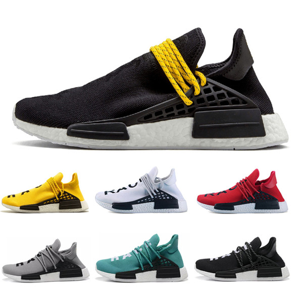 Adidas nmd human race Heiße Klassiker NMD Human Race Pharrell Williams Hu Trail Männer Frauen Laufschuhe High-Top Gelb Blau Schwarz Sportschuhe Größe 36-45