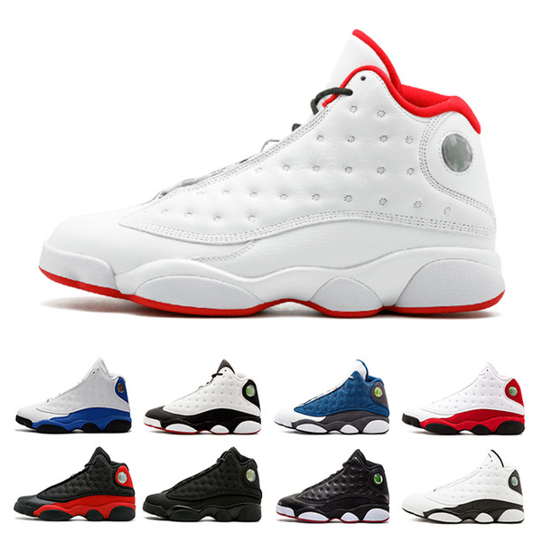 Newest 13 men Basketball Shoes Altitude white Black Cat bred Chicago Italy Blue Hyper Royal Playoffs Barons Grey Toe trainer sports shoes