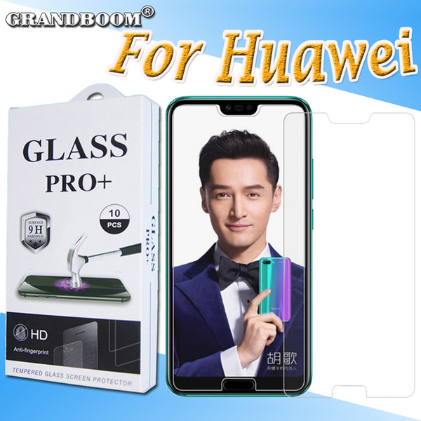 500pcs Tempered Glass 9H Guard Shield For Huawei Honor V10 V9 V8 7X Screen Protector Toughened Protective Film With New Package