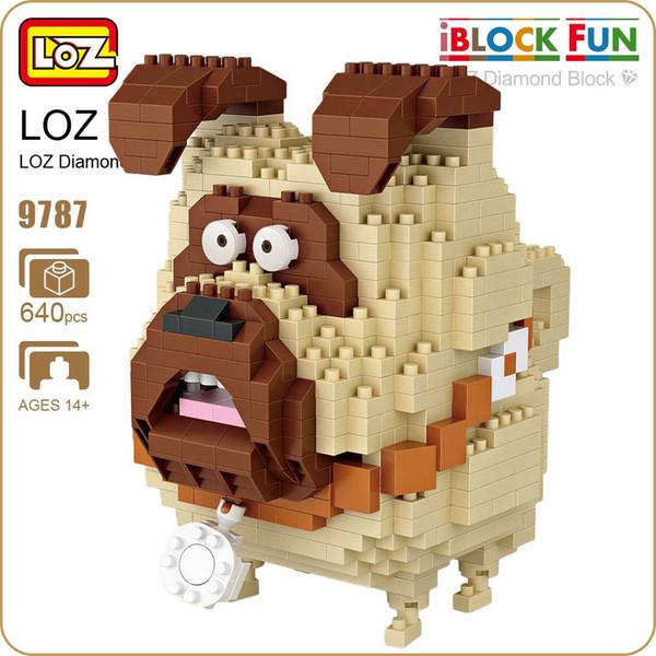 LOZ Blocks Diamond pet dog Micro Building Blocks Figures Cartoon Mini Plastic Assembly Toys Small Blocks Cute Animal Toy 9787