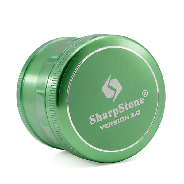 Afiladoras de chaflán Sharpstone 2.0 Amoladoras de hierbas de aleación de aluminio Amoladoras de piedra afiladas de tabaco 4 capas Amoladora grande de 63 mm Logotipo del OEM