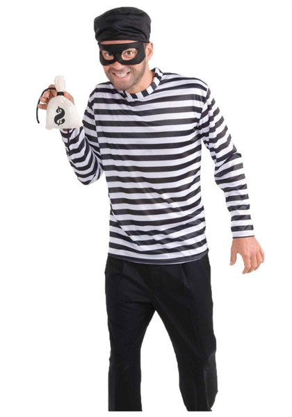 Top Quality 2018 Newly Hot Adult Men Black Sexy Burglar And Bank Robber Costume
