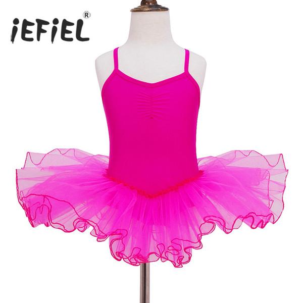 tage Dance Wear iEFiEL Teen Ballet Dancer Tutu Dress Polyamide Leotard Girls Ballet Costumes Toddler Birthday Party Performance Mini Pro...