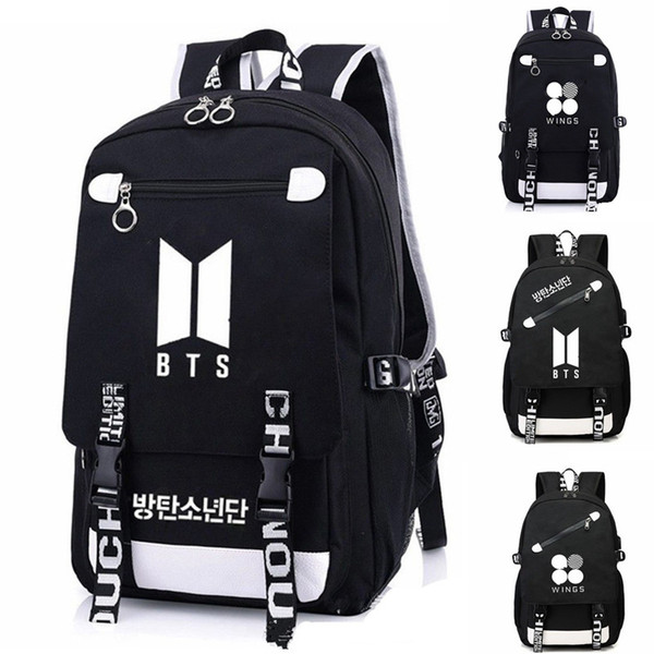KPOP BTS Backpack Bangtan Backpack Bag School Book Zipper Bags Laptop Boy  Girls JIMIN JUNGKOOK Gift 623c7e341cb51
