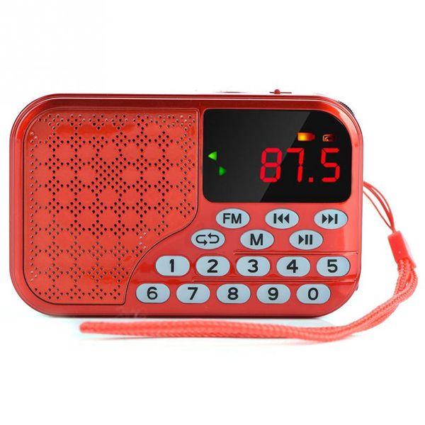 87.5-108MHz FM Digital FM Radio 2.1 Channel TF/USB Music Noise Cancelling Mini Speaker Radio