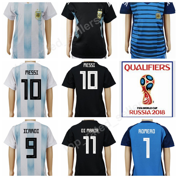 best value df193 d3a21 2019 2018 World Cup Soccer Argentina Kids Jersey Argentine Children Lionel  Messi Football Shirt Uniforms Youth Home White Away Black Custom From ...