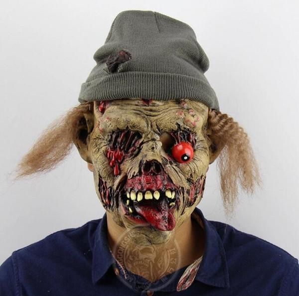 Cadılar bayramı Bar Maskesi Komik Canavar Noel Partisi Sahne Perili Ev Polis Turbo Komik Maske Toptan Ücretsiz Kargo