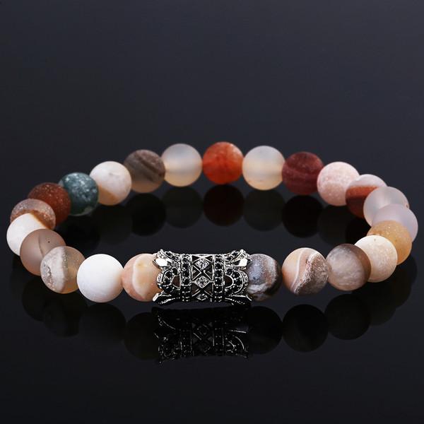 Trendy beliebte mode armbänder armreifen klassische colorized natürliche lava steine charme perlenarmband männer frauen yoga schmuck
