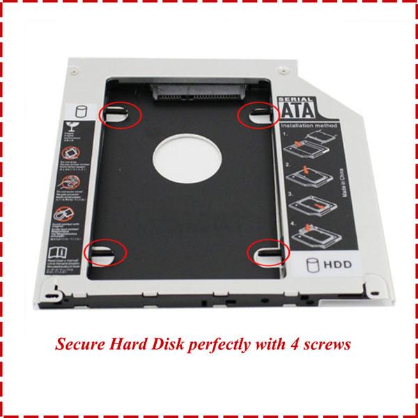 Vassoio portadocumenti universale per disco rigido Sdartibile SSD universale per disco rigido da 9,5 mm per CD / DVD-ROM