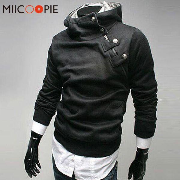 Neue Marke Hoodies Männer Casual Sportswear Reißverschluss Hohe Kragen Staubmantel Hoodies Herren Trainingsanzüge Moleton Masculino 4XL