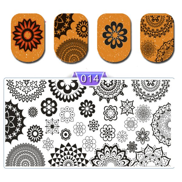 New Arrival Nail Art Print Stamping Plates Geometry Cartoon Lace Nail Template Beauty Stencil Manicure DIY Styling Tools