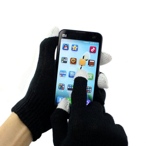 MUQGEW Оптовая торговля розничная мужская магия дизайн сенсорный экран перчатки текстовые смартфон стрейч зима вязать варежки перчатки Y18102210