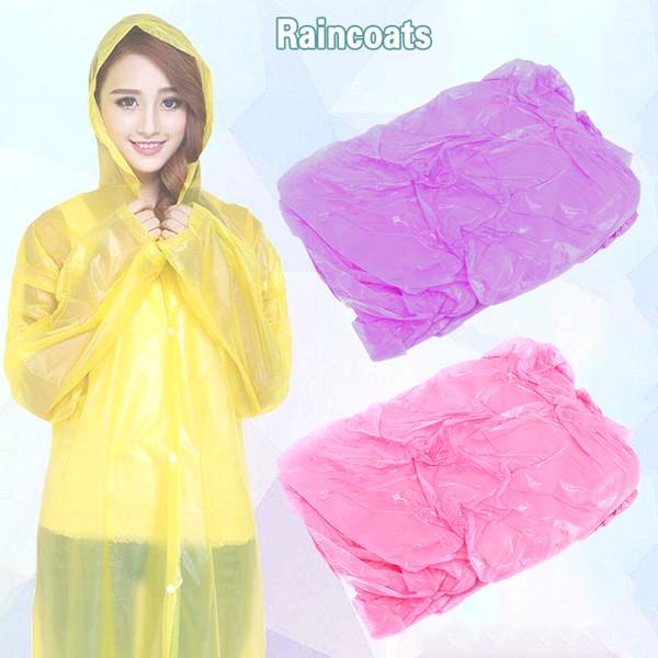 Rain Coat Hooded Poncho Disposable Waterproof Jacket wear emergency hiking LOT