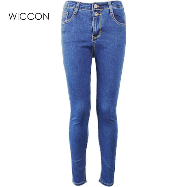 Sonbahar Kadınlar Yüksek Bel Sıcak Kot Kalem Rahat Sıska Denim Pantolon ince kadın pantolon S1011